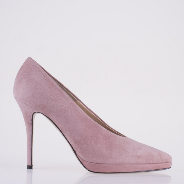 Pointy toe platform pink pump
