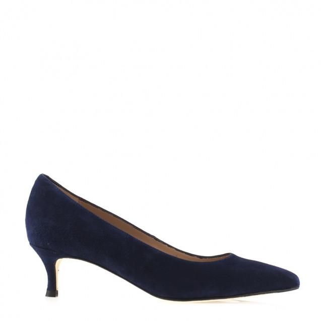 Stone low heel pump