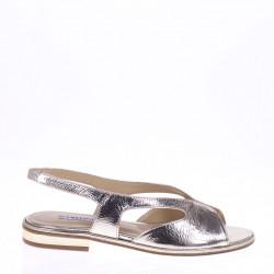 Platinum mirror Flat sandal