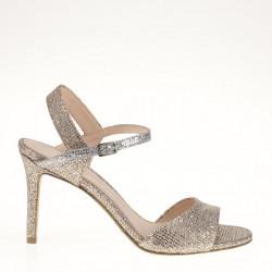 Platinum fabric sandal