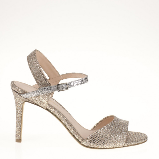 Platinum fabric sandal