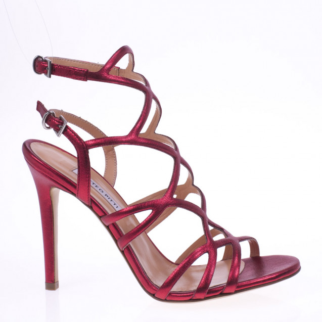 Red cage sandal