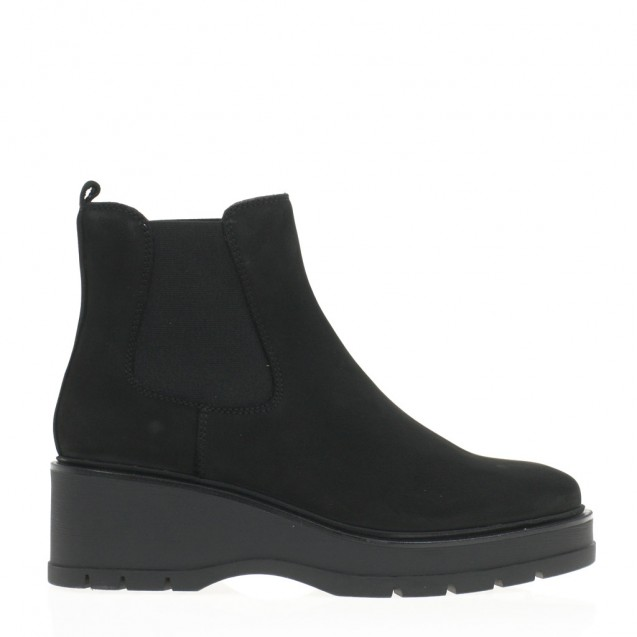 Wedge black chelsea boots
