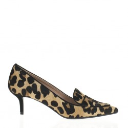 Pony printed loafer pump