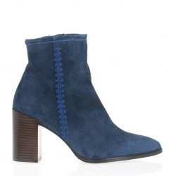 Petroleum suede ankle boots