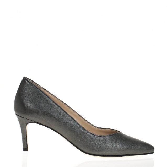 Steel napa medium heel pump
