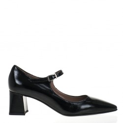 Black patent leather mary jane