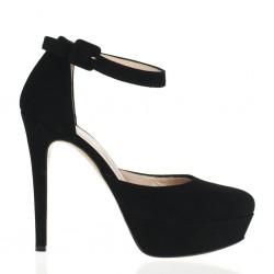 Scarpa nera con tacco alto