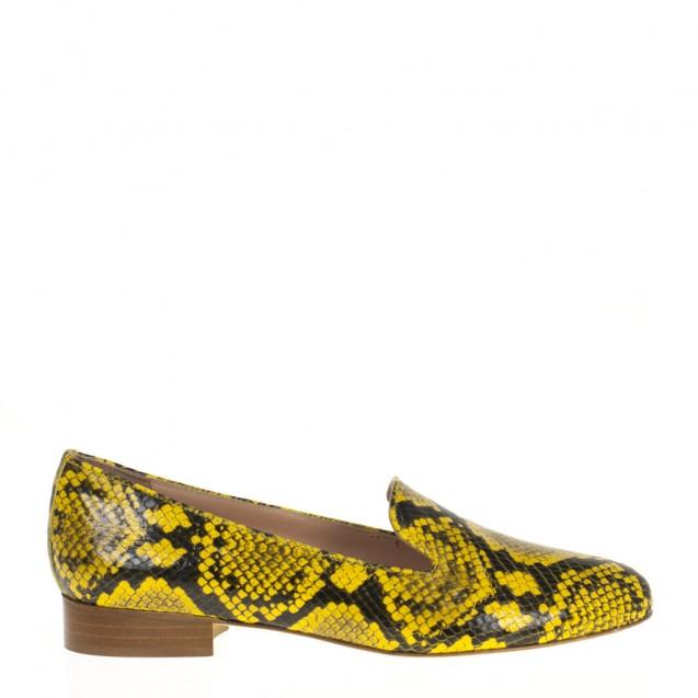Yellow snake slipper