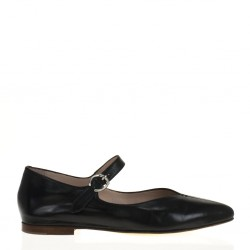 Black napa mary jane shoes