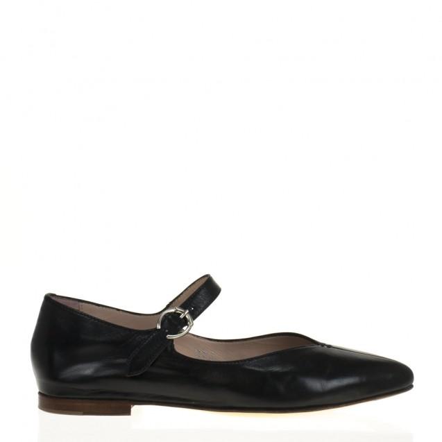Black napa mary jane shoes