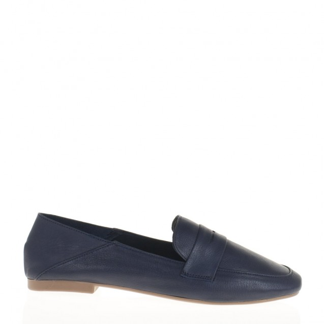 Unlined blue loafer