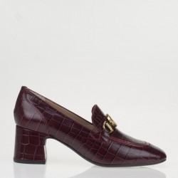 Red croco napa monogram loafer