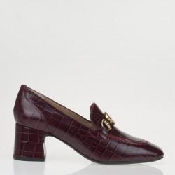 Red croco napa monogram loafer