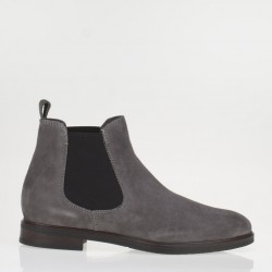 Taupe suede chelsea boots
