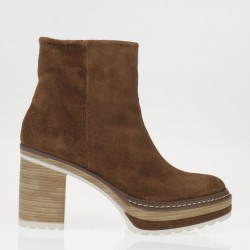 Cacao platform ankle boots