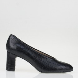 Croco black pump