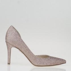 Nude glitter d'orsay pump