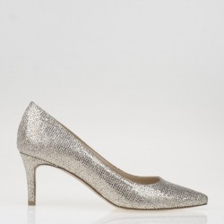Gold fabric pump