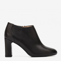 Black napa ankle boots
