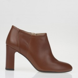 Brown napa ankle boots