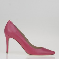 Coral leather Pump
