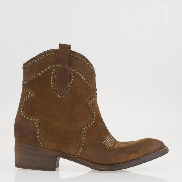Tan suede cowboy boots