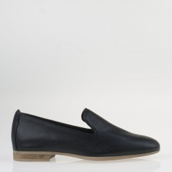 Black napa horsebit loafer