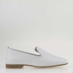 Slipper in pelle bianca