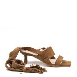Tan sude sandal