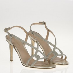 Platinum jewel sandal
