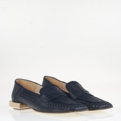 blue braided napa loafer
