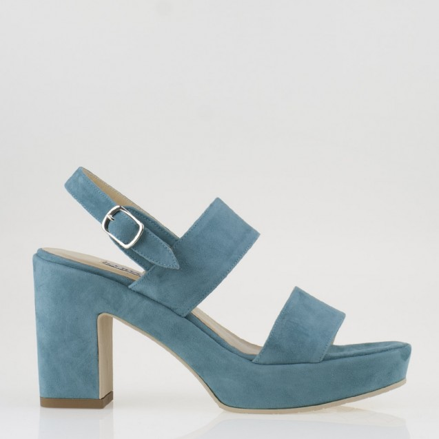 Turquoise suede sandal