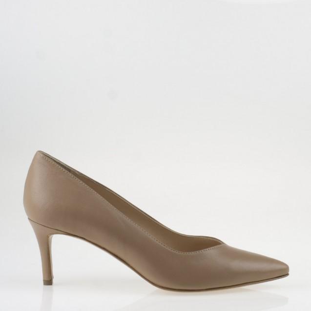 Nude napa medium heel pump