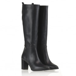 Black leather boot