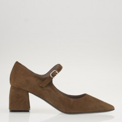 Tan suede mary jane
