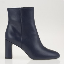Blue napa ankle boots