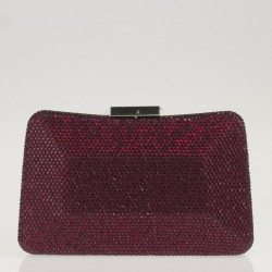 Red satin and crystals clutch