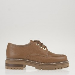 Tan leather lace up