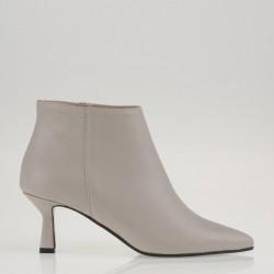 Ivory medium heel ankle boots