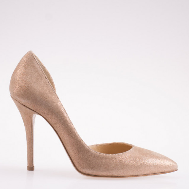 Nude leather d'orsay pump