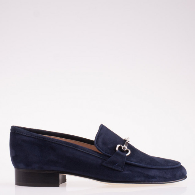 Blue horsebit loafer